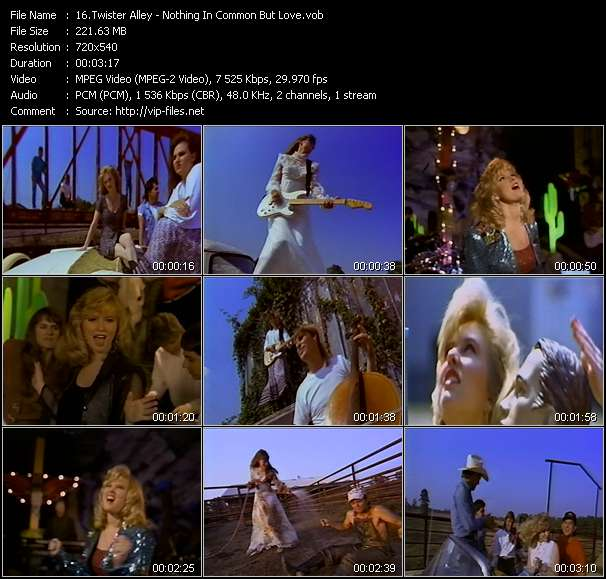 Screenshot of Music Video Twister Alley - Nothing In Common But Love