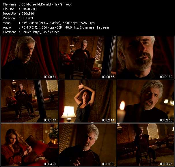 Screenshot of Music Video Michael McDonald - Hey Girl