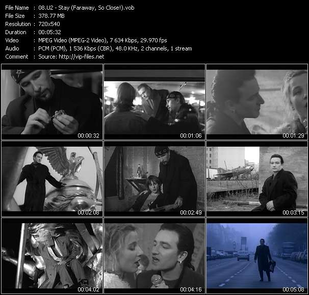 Screenshot of Music Video U2 - Stay (Faraway, So Close!)