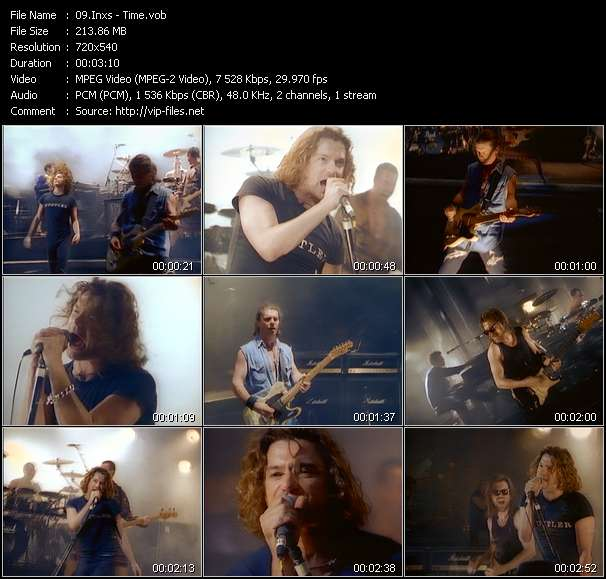 Screenshot of Music Video Inxs - Time