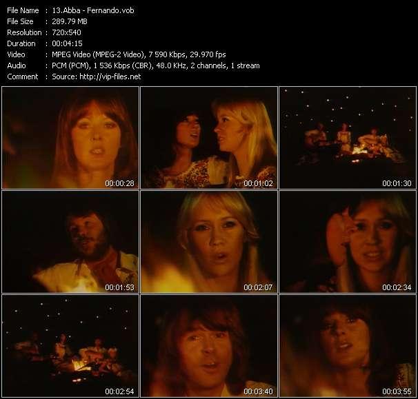 Screenshot of Music Video Abba - Fernando