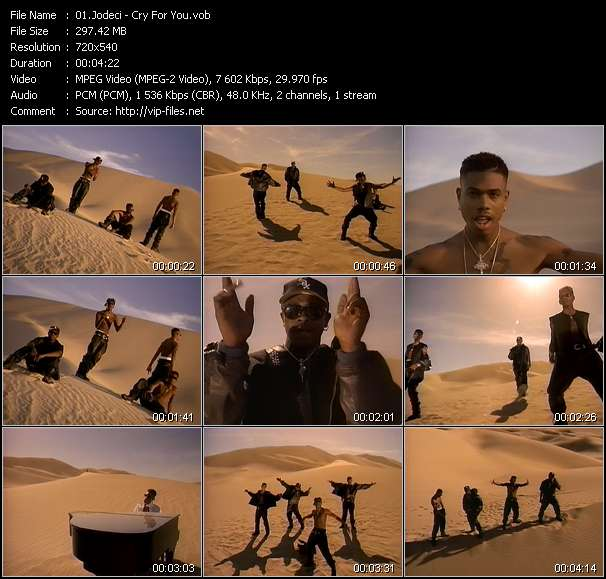 Screenshot of Music Video Jodeci - Cry For You