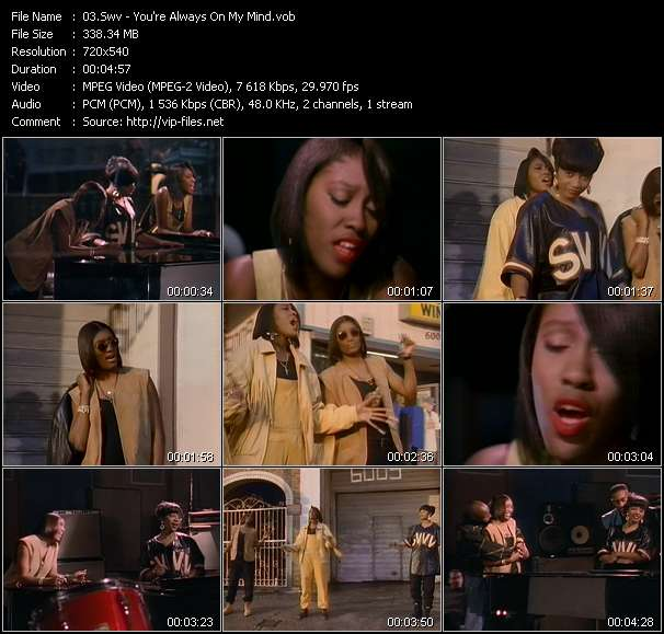 Screenshot of Music Video Swv - You're Always On My Mind