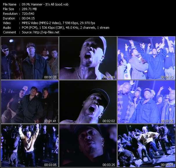 Screenshot of Music Video Mc Hammer - It's All Good