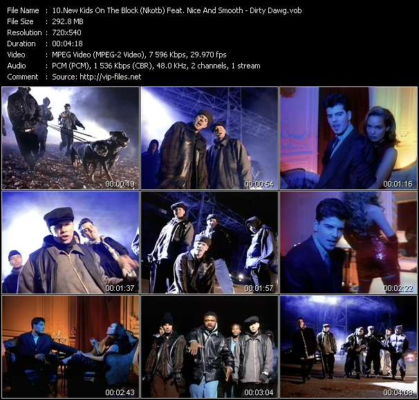 Screenshot of Music Video New Kids On The Block (Nkotb) Feat. Nice And Smooth - Dirty Dawg