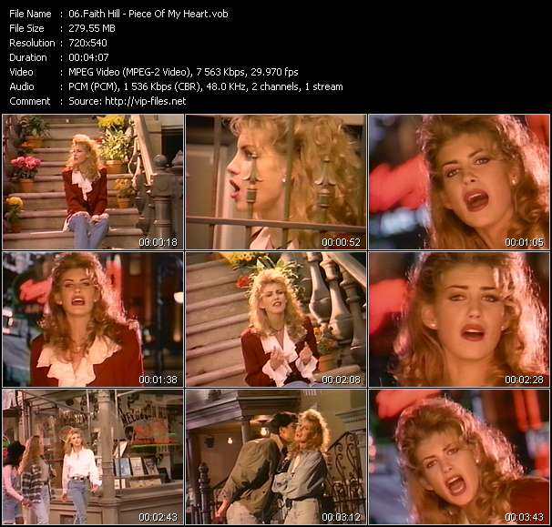 Faith Hill clips musicaux vob