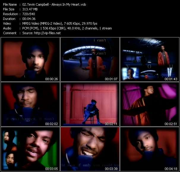 Tevin Campbell clips musicaux vob