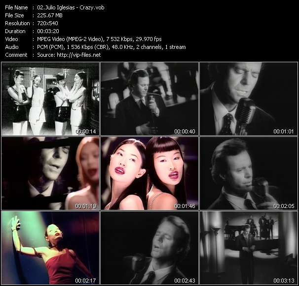 Screenshot of Music Video Julio Iglesias - Crazy