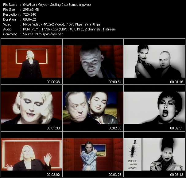 Screenshot of Music Video Alison Moyet - Getting Into Something