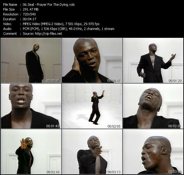 Screenshot of Music Video Seal - Prayer For The Dying