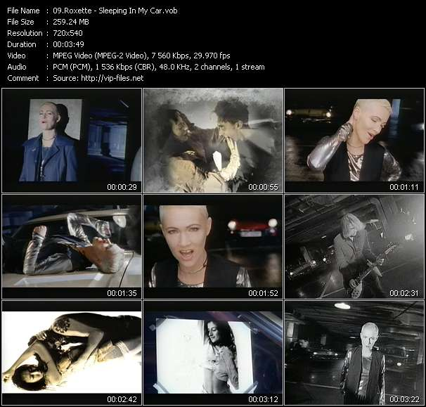 Screenshot of Music Video Roxette - Sleeping In My Car