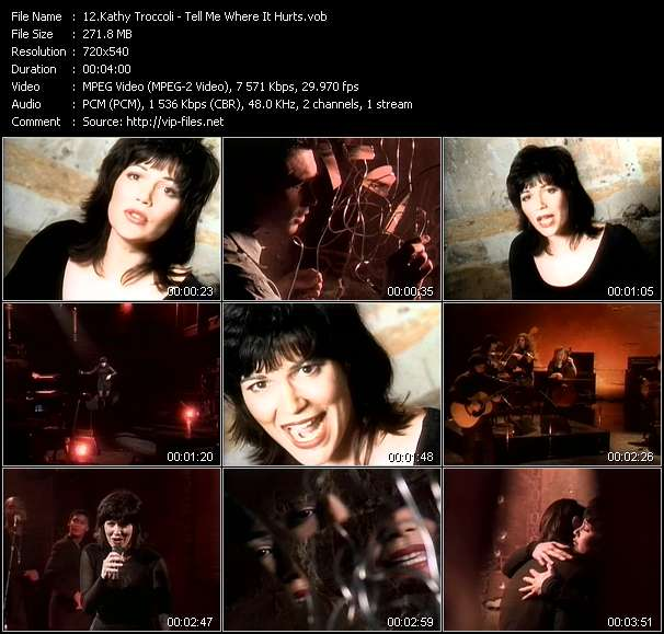 Screenshot of Music Video Kathy Troccoli - Tell Me Where It Hurts