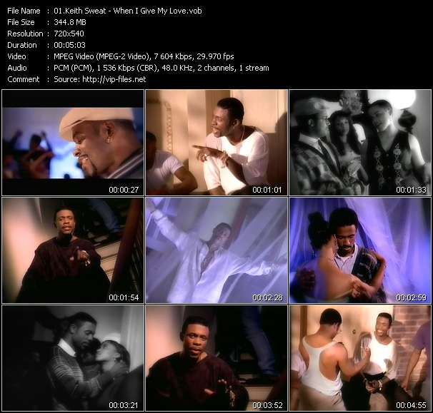 Screenshot of Music Video Keith Sweat - When I Give My Love