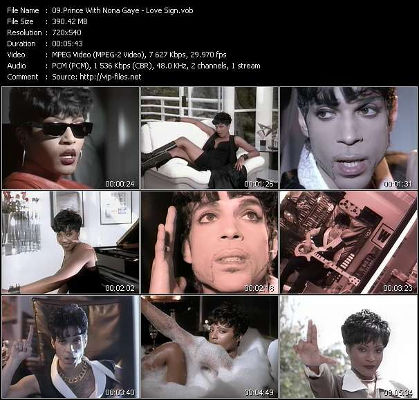 Screenshot of Music Video Prince With Nona Gaye - Love Sign