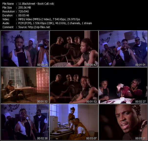 Screenshot of Music Video Blackstreet - Booti Call