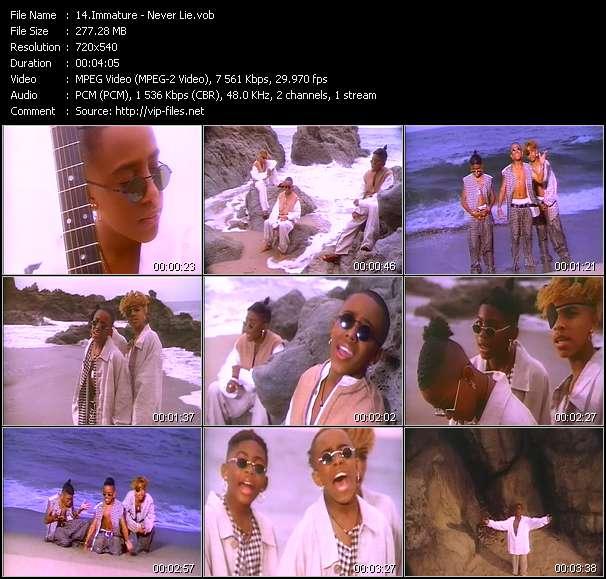 Screenshot of Music Video Immature - Never Lie