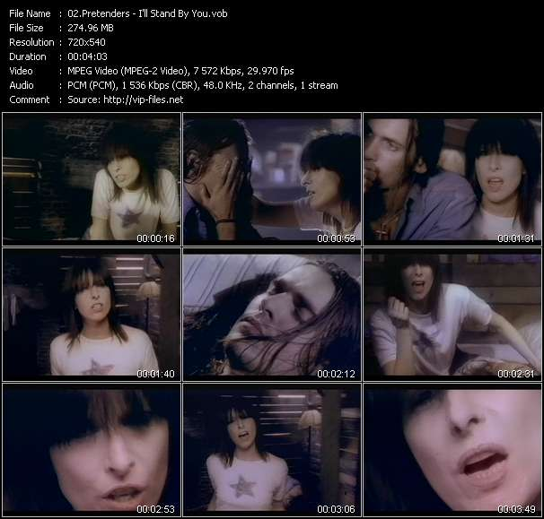 Screenshot of Music Video Pretenders - I'll Stand By You