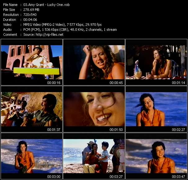 Screenshot of Music Video Amy Grant - Lucky One