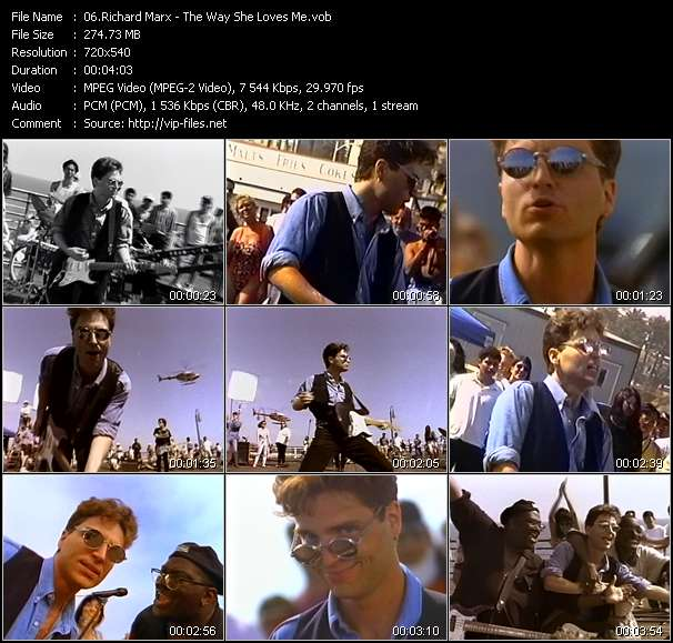 Screenshot of Music Video Richard Marx - The Way She Loves Me