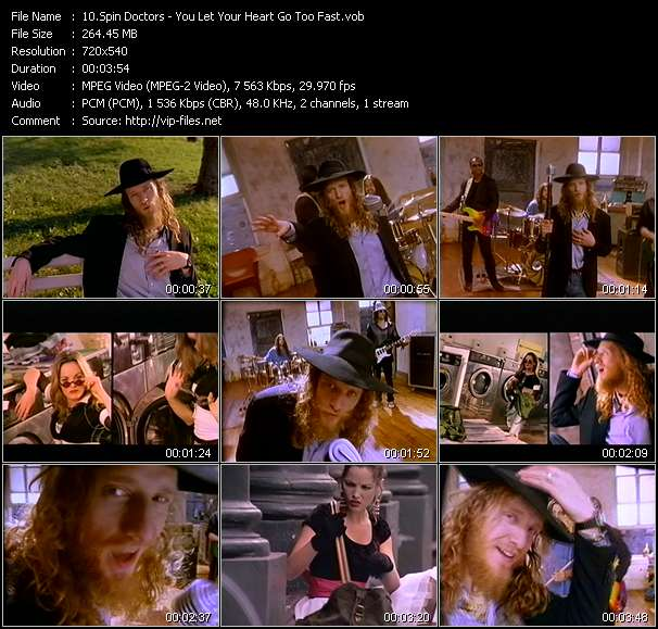 Screenshot of Music Video Spin Doctors - You Let Your Heart Go Too Fast