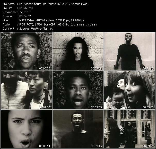 Screenshot of Music Video Neneh Cherry And Youssou N'Dour - 7 Seconds