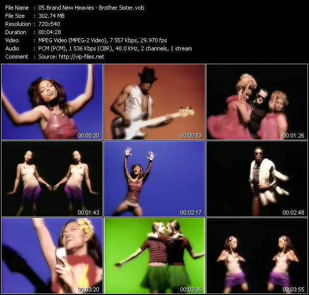 Screenshot of Music Video Brand New Heavies - Brother Sister