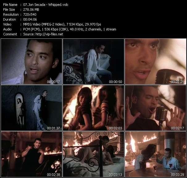 Screenshot of Music Video Jon Secada - Whipped