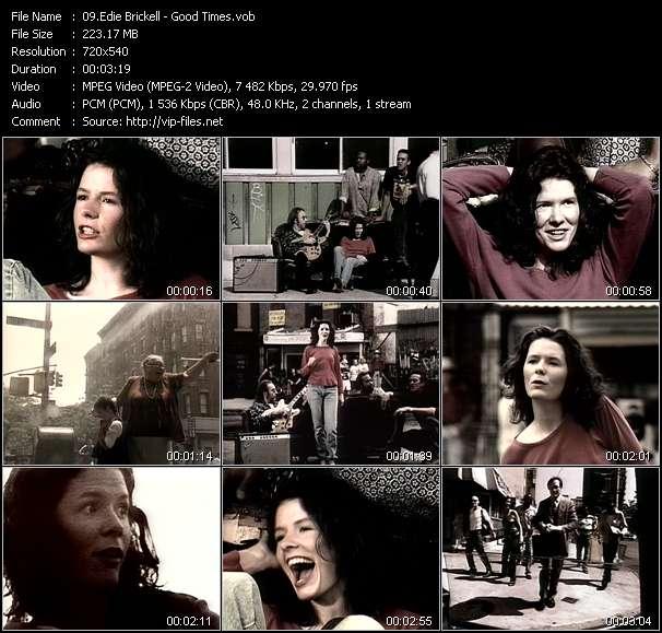 Screenshot of Music Video Edie Brickell - Good Times