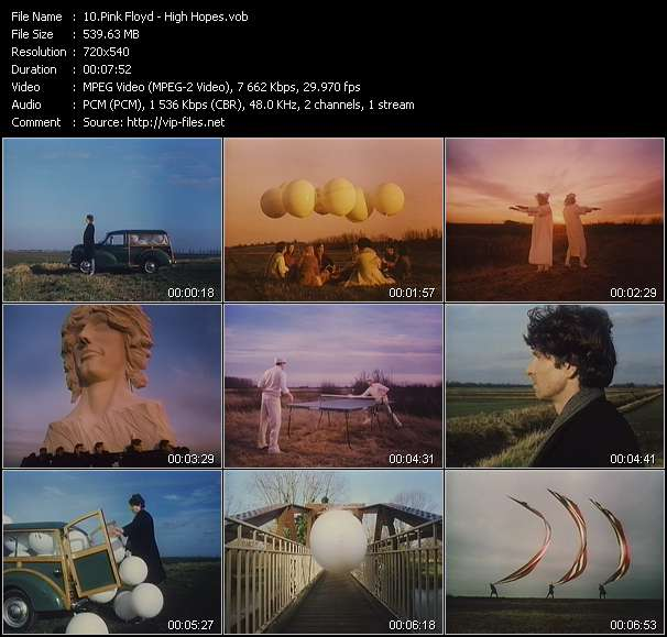 Screenshot of Music Video Pink Floyd - High Hopes