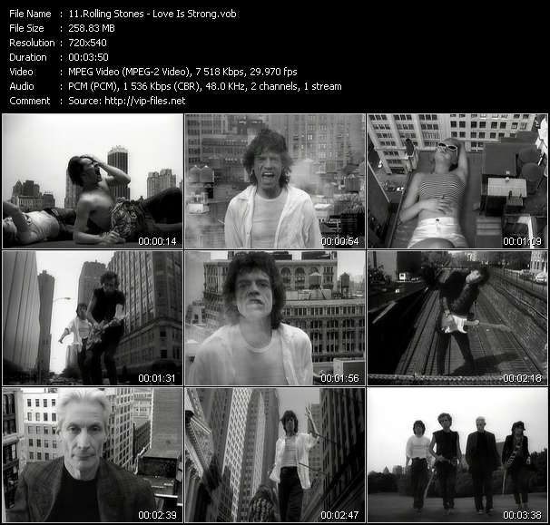Screenshot of Music Video Rolling Stones - Love Is Strong