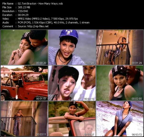 Screenshot of Music Video Toni Braxton - How Many Ways