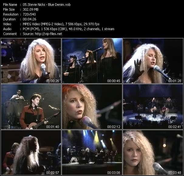 Screenshot of Music Video Stevie Nicks - Blue Denim