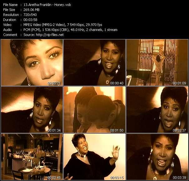 Screenshot of Music Video Aretha Franklin - Honey
