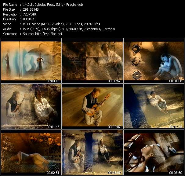 Julio Iglesias Feat. Sting video vob