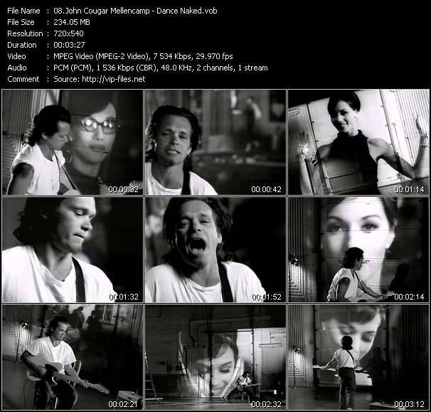 John Cougar Mellencamp video vob