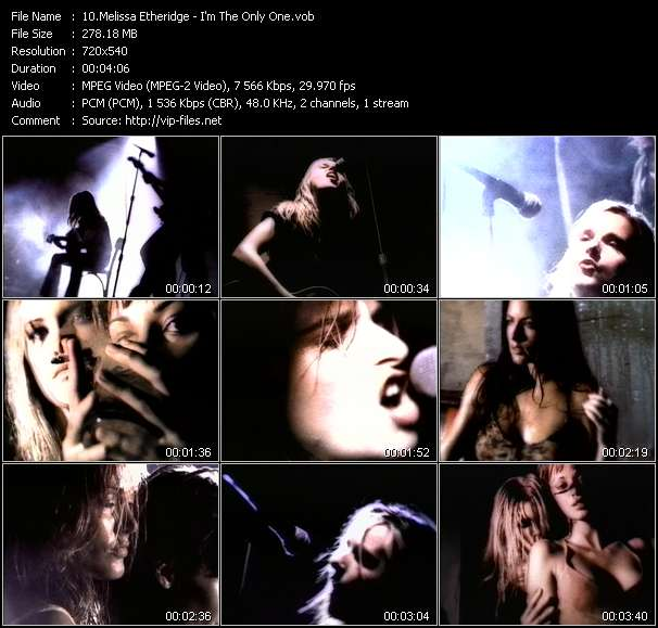 Melissa Etheridge video vob