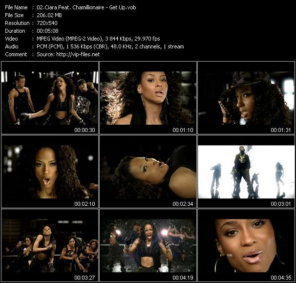 Screenshot of Music Video Ciara Feat. Chamillionaire - Get Up