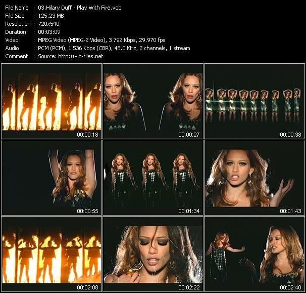 Screenshot of Music Video Hilary Duff - Play With Fire