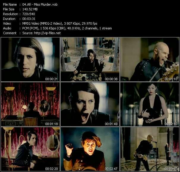 Screenshot of Music Video Afi - Miss Murder