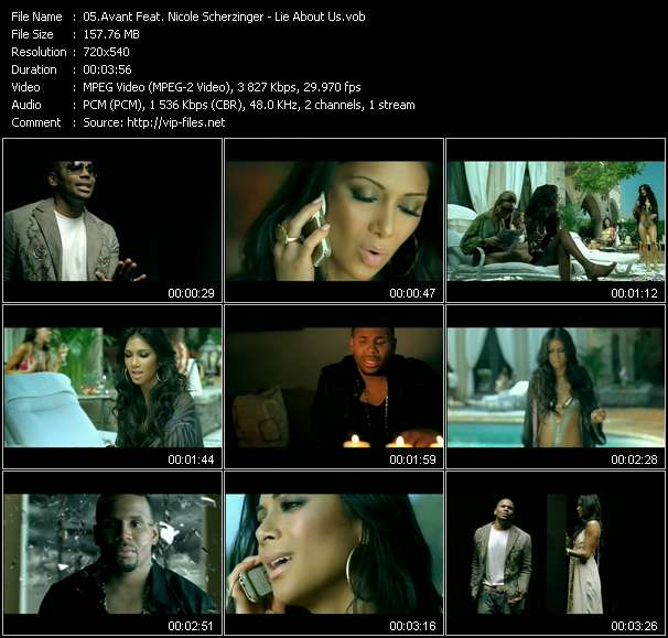 Screenshot of Music Video Avant Feat. Nicole Scherzinger - Lie About Us
