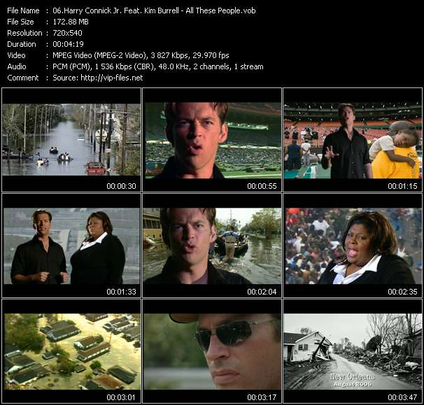 Screenshot of Music Video Harry Connick Jr. Feat. Kim Burrell - All These People