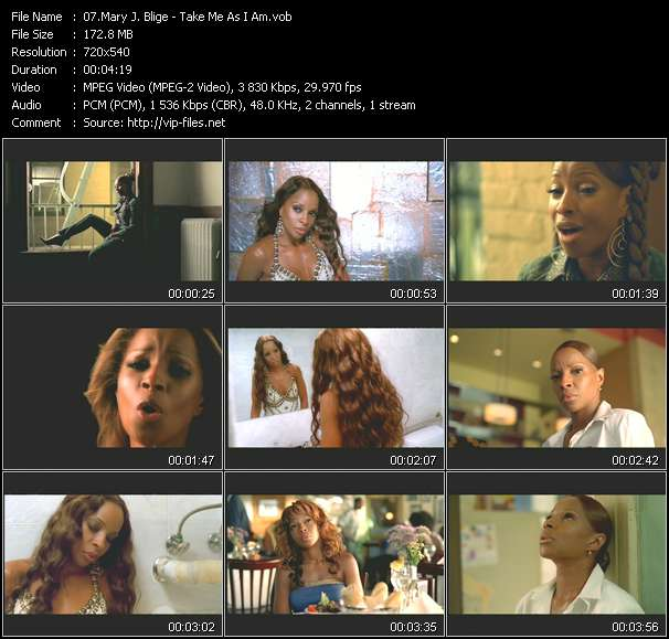 Screenshot of Music Video Mary J. Blige - Take Me As I Am