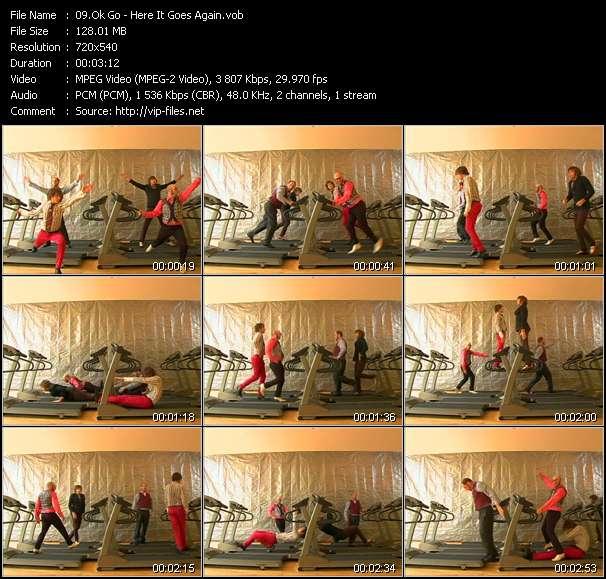 Screenshot of Music Video Ok Go - Here It Goes Again