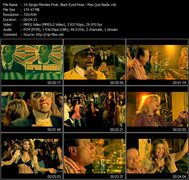 Sergio Mendes Feat. Black Eyed Peas video vob