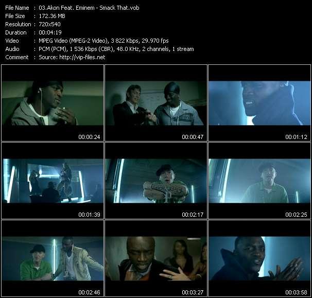 Screenshot of Music Video Akon Feat. Eminem - Smack That