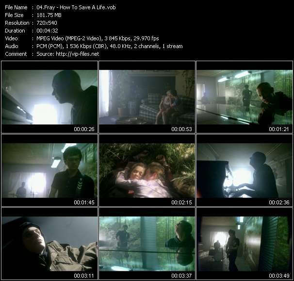 Screenshot of Music Video Fray - How To Save A Life