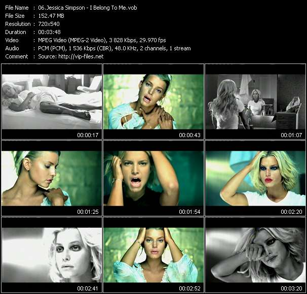 Screenshot of Music Video Jessica Simpson - I Belong To Me