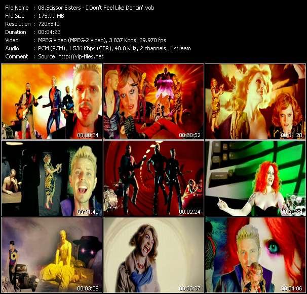Screenshot of Music Video Scissor Sisters - I Don't Feel Like Dancin'
