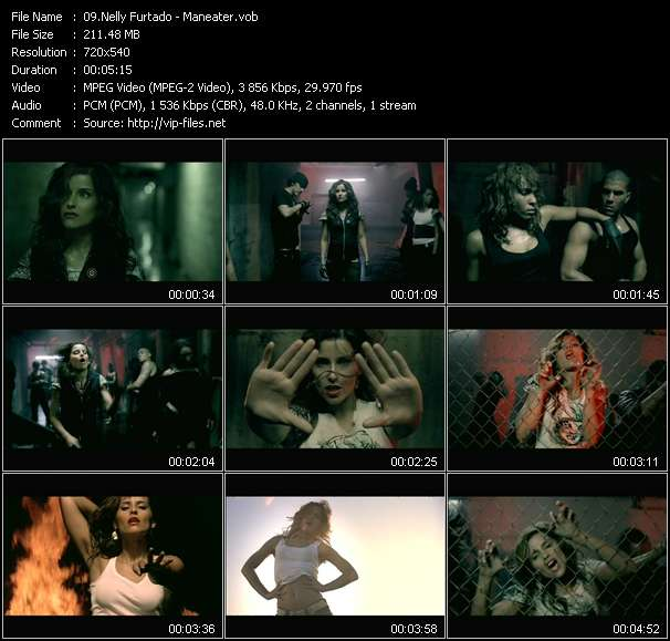 Screenshot of Music Video Nelly Furtado - Maneater