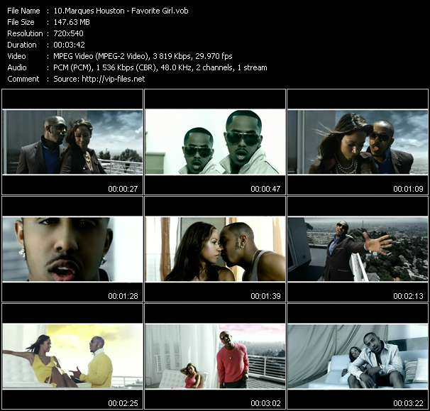 Screenshot of Music Video Marques Houston - Favorite Girl